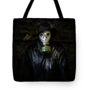 The Gas Mask Man Tote Bag