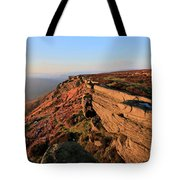The Gritstone Rock Formations On Stanage Edge Tote Bag