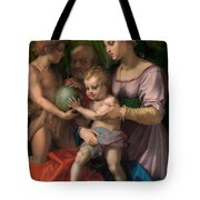 The Holy Family With The Young Saint John The Baptist Tote Bag