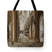 The Interior Of The Onze Lieve Vrouwekerk In Antwerp Tote Bag