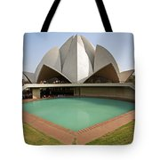 The Lotus Temple In New Delhi Tote Bag