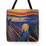 The Scream Ver 1895 Edvard Munch Tote Bag
