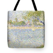 The Seine Seen From La Grande Jatte Tote Bag