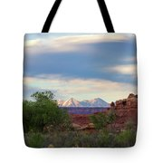 The Shining Mountains Tote Bag
