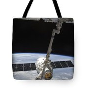 The Spacex Dragon Cargo Craft Tote Bag by Stocktrek Images