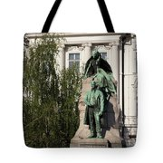 The Statue Of France Preseren And His Muse Tote Bag