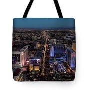 the Strip at night, Las Vegas Tote Bag