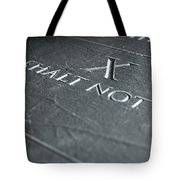 The Tenth Commandment Tote Bag