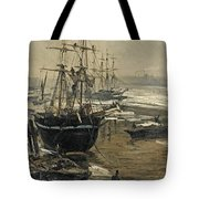 The Thames In Ice Tote Bag