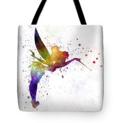 Tinkerbell In Watercolor Tote Bag