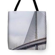 Toledo Ohio City Skyline And Bridges Around Downtown Tote Bag