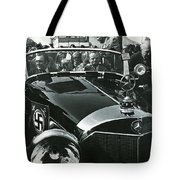 Tom Barrett And Family With High Bidder  Earl Clark At $153,000 Of Adolf Hitlers Mercedes Benz 770k Tote Bag