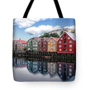 Trondheim Coastal View Tote Bag