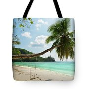 Tropical Beach At Mahe Island Seychelles Tote Bag