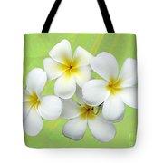 Tropical Frangrapani Tote Bag