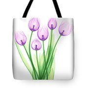 Tulips, X-ray Tote Bag