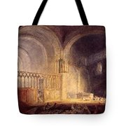 Turner Joseph Mallord William Transept Of Ewenny Prijory Glamorganshire Joseph Mallord William Turner Tote Bag