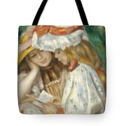 Two Girls Reading Tote Bag