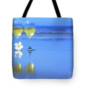 Two Glasses Of White Wine Tote Bag by MotHaiBaPhoto Prints