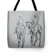Two Horse Tote Bag