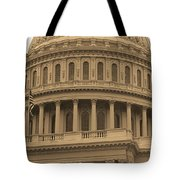 United States Capitol Building Sepia Tote Bag