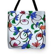 untitled  Floral Tote Bag