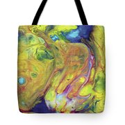 Upside Down Jellyfish And The Chicken Close Up Tote Bag