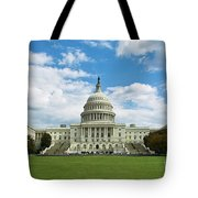 Us Capitol Washington Dc Negative Tote Bag