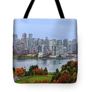 Vancouver In Fall Tote Bag