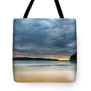 Vibrant Cloudy Sunrise Seascape Tote Bag
