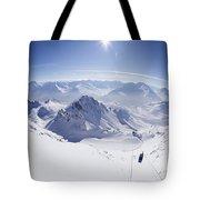 View From Summit Of Valluga, St Saint Anton Am Arlberg Austria Tote Bag