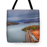 View From The Bear Mountain Bridge Tote Bag