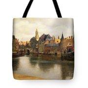 View Of Delft Tote Bag by Jan Vermeer