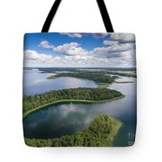 View Of Small Islands On The Lake In Masuria And Podlasie  Tote Bag