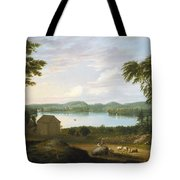 View Of Springfield On The Connecticut River Tote Bag