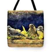 Vintage Bluebird Print Tote Bag