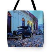 Vintage Cars In Colonia Del Sacramento, Uruguay Tote Bag