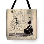 Clean Dainty Curtains Vintage Soap Ad Tote Bag