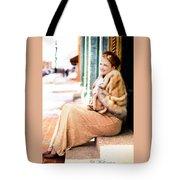 Vintage Val Winter Glam Tote Bag