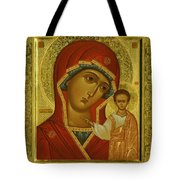 Virgin And Child Icon Tote Bag