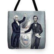 Washington And Lincoln Tote Bag