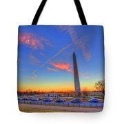 Washington Monument Sunset Tote Bag