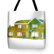 Watercolor House Tote Bag