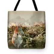 Watercolour Painting Of Beauttiful Close Up Of New Forest Pony H Tote Bag