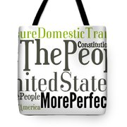 We The People Of The United States Of America Tote Bag