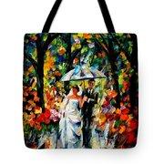 Wedding Under The Rain Tote Bag