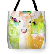 White-tailed Virginia Deer Fawn Tote Bag
