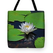 2- White Water Lily Tote Bag
