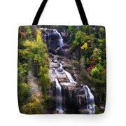 Whitewater Falls In Nc Tote Bag
