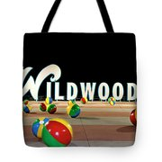 Wildwood's Sign At Night On The Boardwalk  Tote Bag